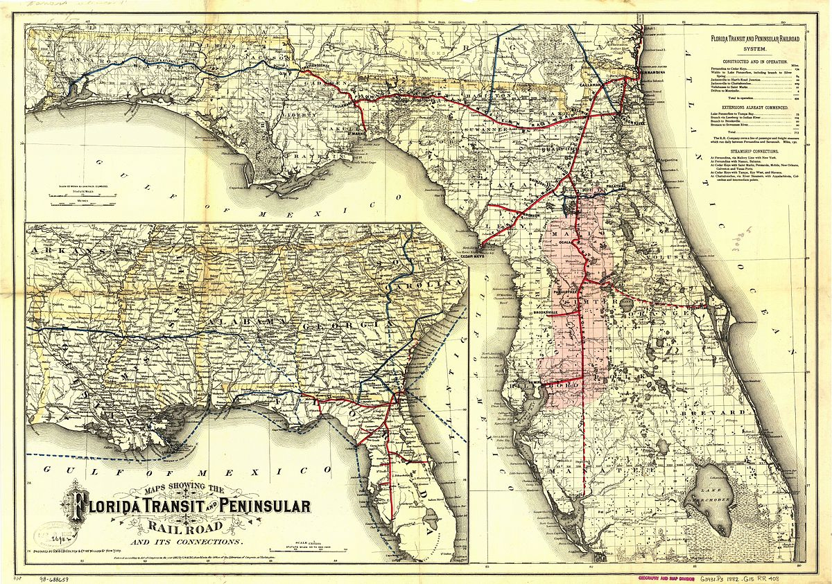 Florida Central And Peninsular Railroad - Wikipedia - Florida Railroad Map