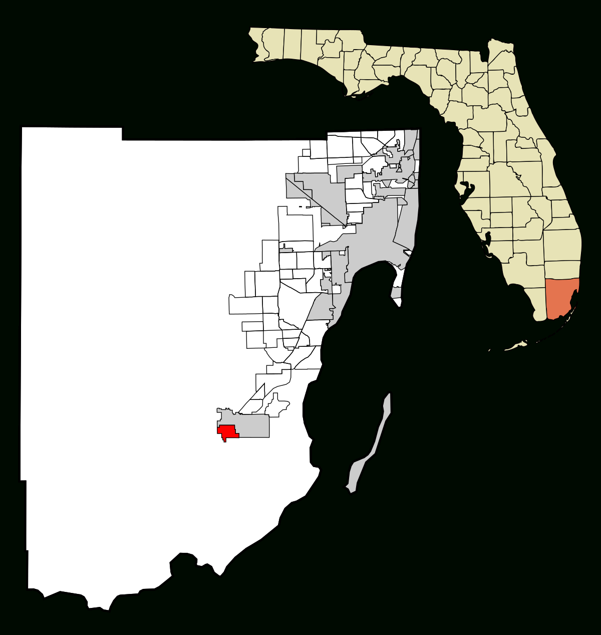 Florida City, Florida - Wikipedia - Map Of Florida Showing Dade City