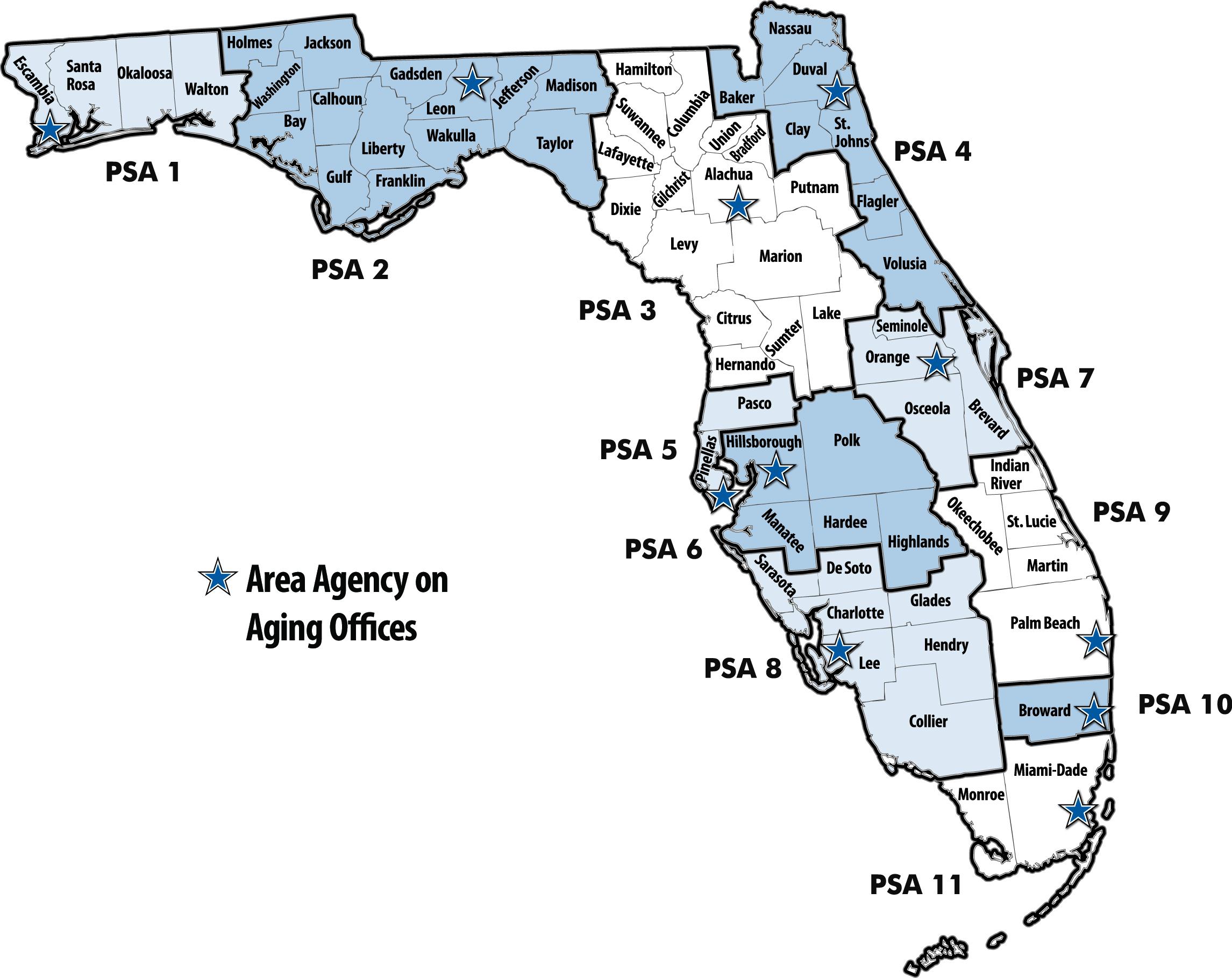 Florida Department Of Elder Affairs - Aaa Performance Measures - Aaa Maps Florida