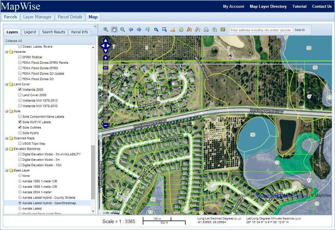 Florida Gis Mapping System For Real Estate Professionals - Florida Gis Map