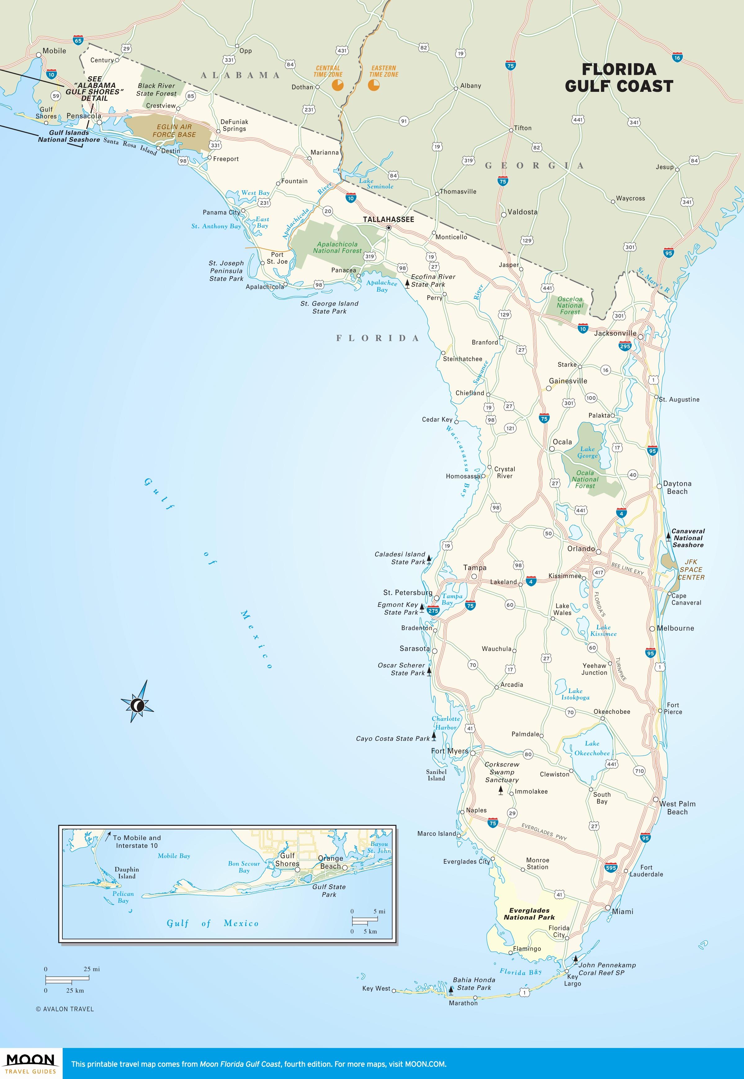Florida Gulf Coast Beaches Map Fresh Alabama Florida Map - Map Of Beaches On The Gulf Side Of Florida