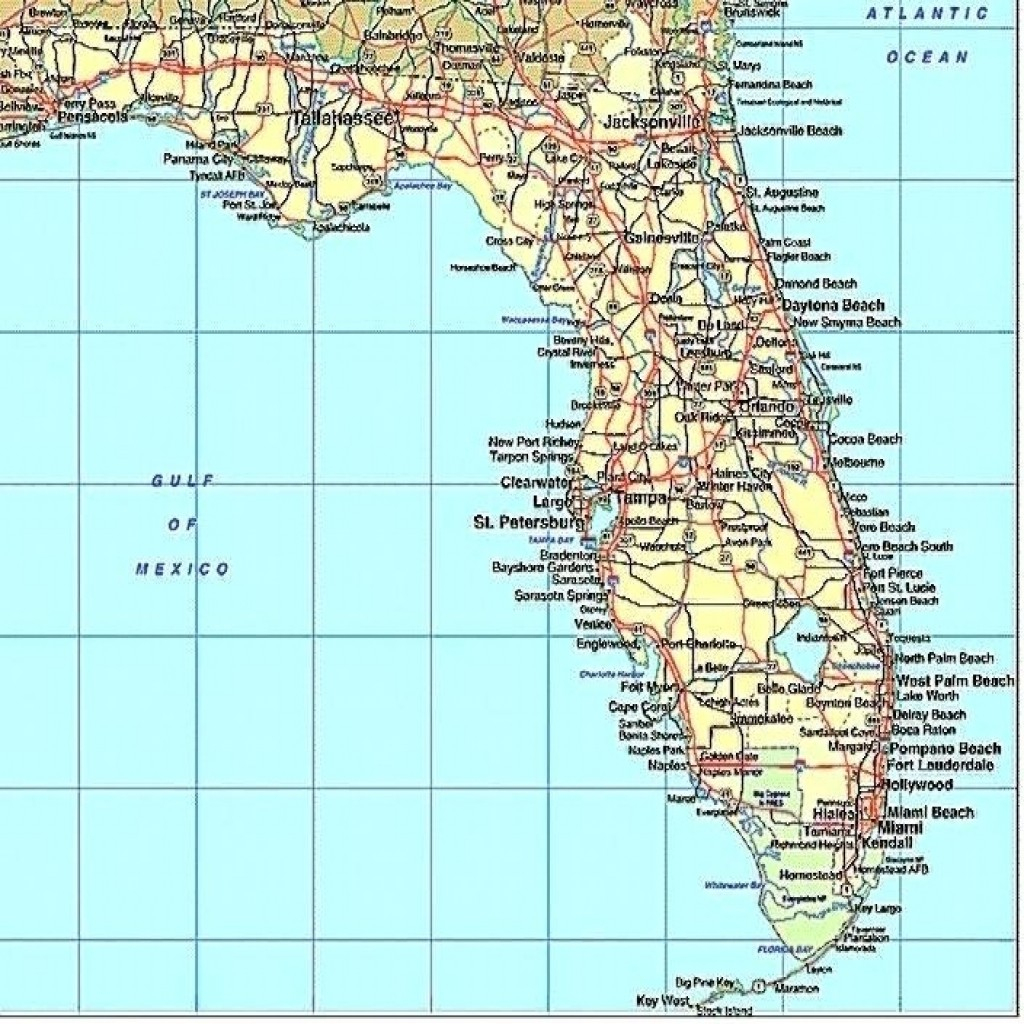 Florida Gulf Coast Beaches Map Map Of Florida West Coast Cities Map - Map Of Florida Beaches On The Gulf