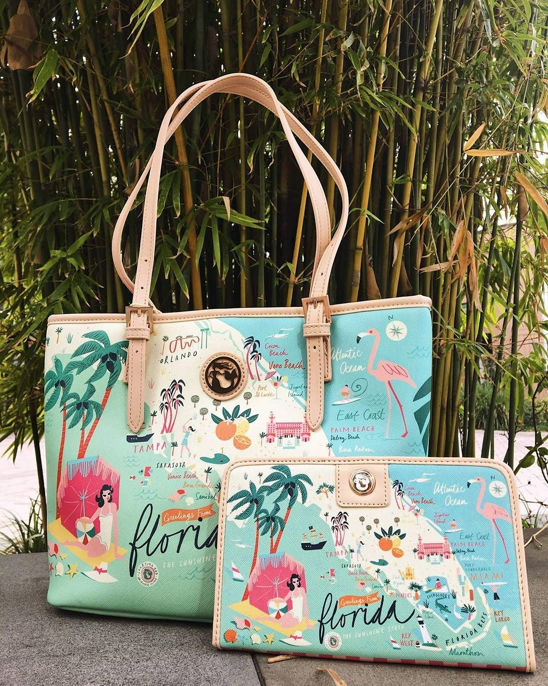 Florida Has Never Looked So Cute! The Tropical State Of Florida Has - Florida Map Purse