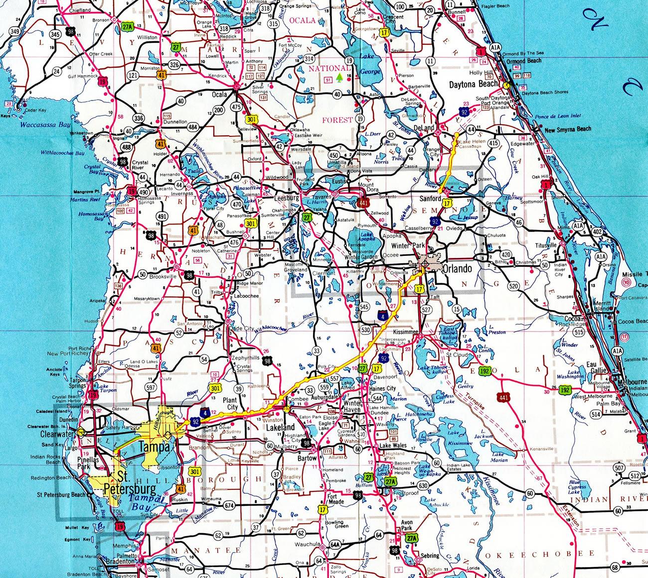 Florida Highway Map - Aishouzuo - Highway Map Of South Florida