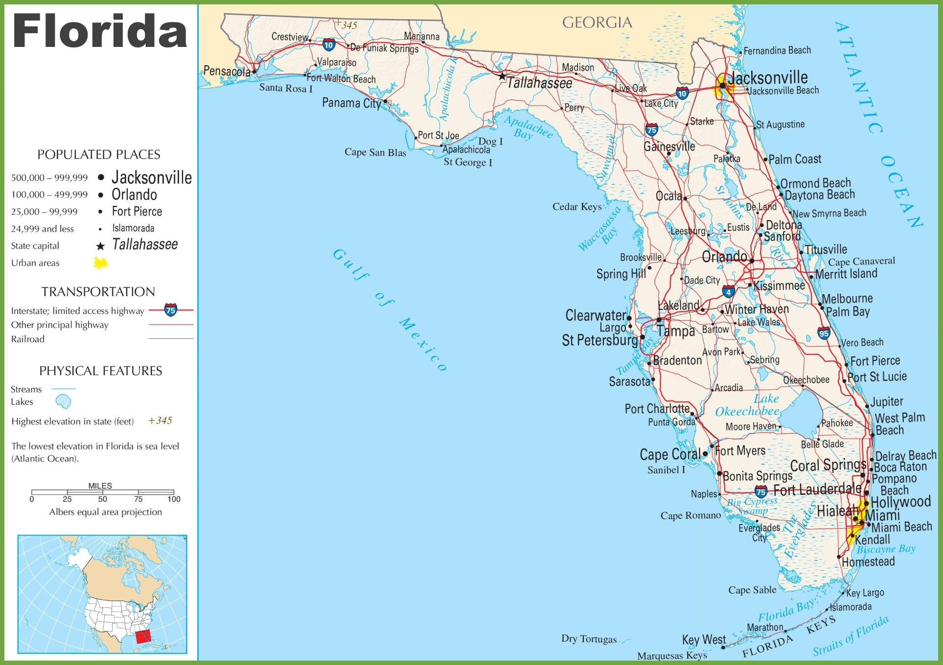 Florida Highway Map - Florida Keys Highway Map