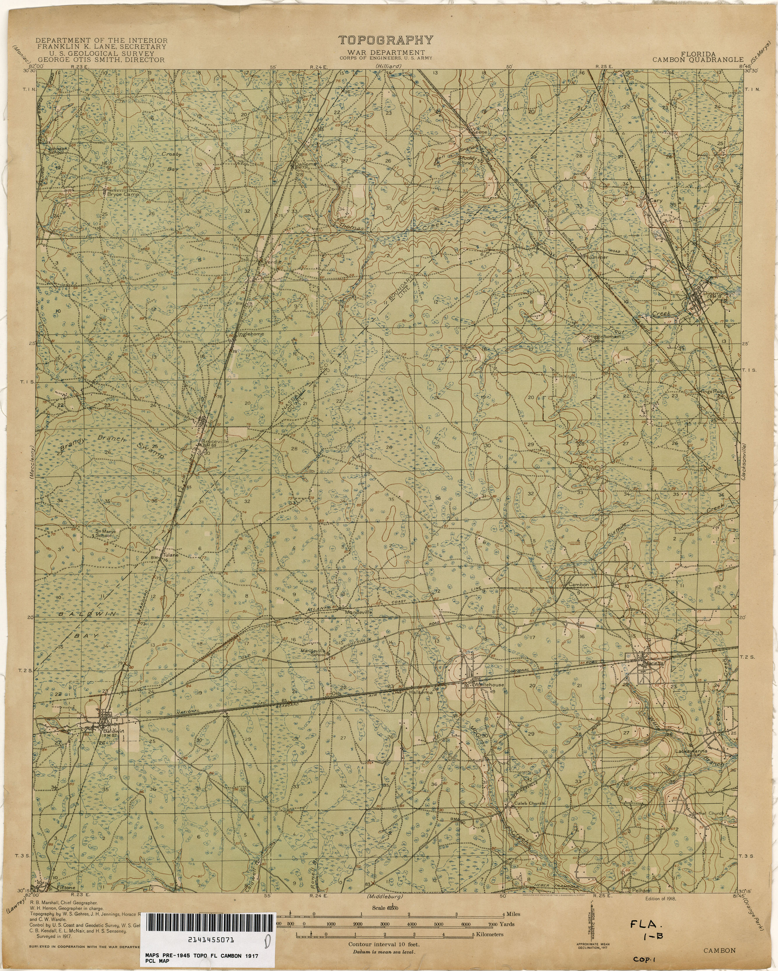 Florida Historical Topographic Maps - Perry-Castañeda Map Collection - Early Florida Maps