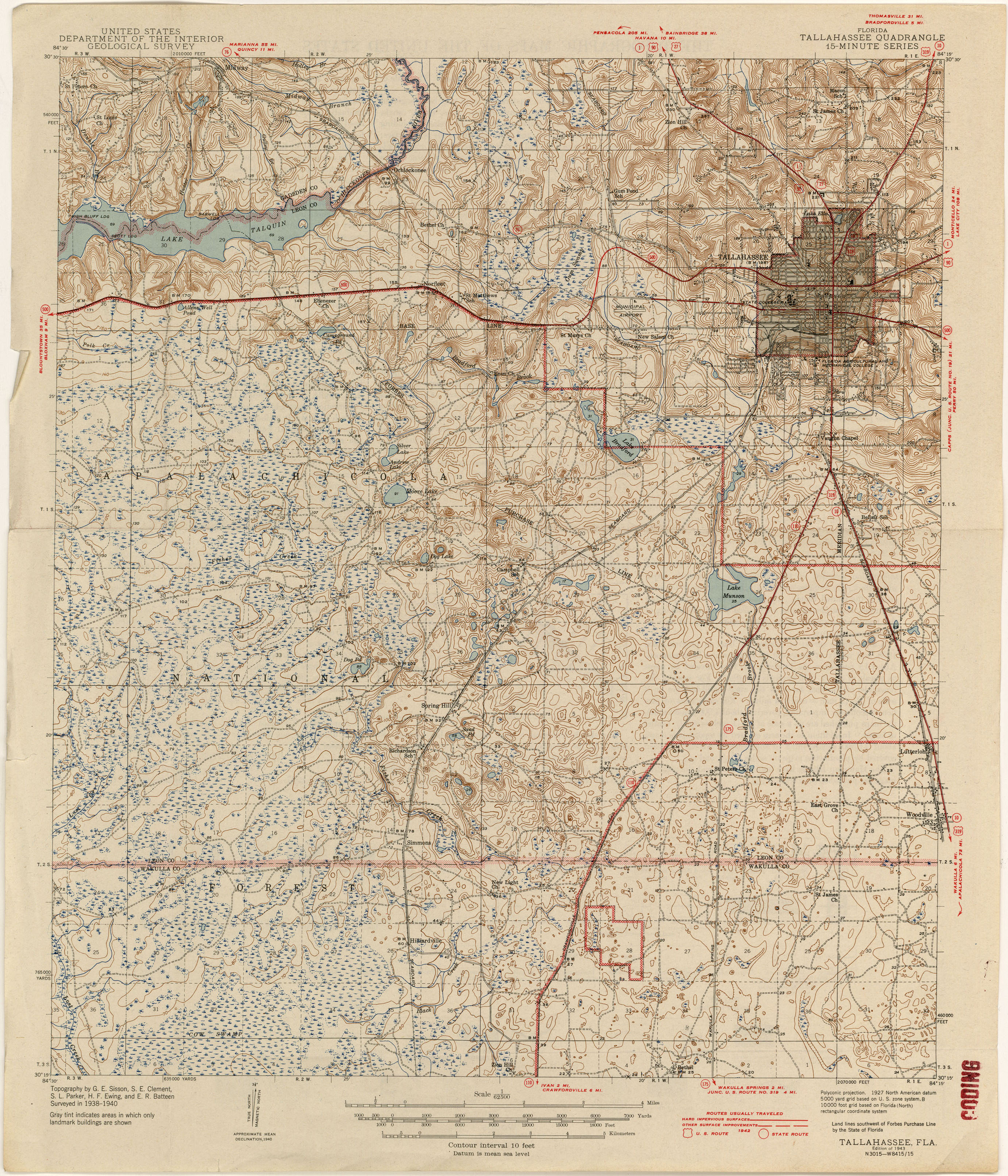 Florida Historical Topographic Maps - Perry-Castañeda Map Collection - Florida Old Map