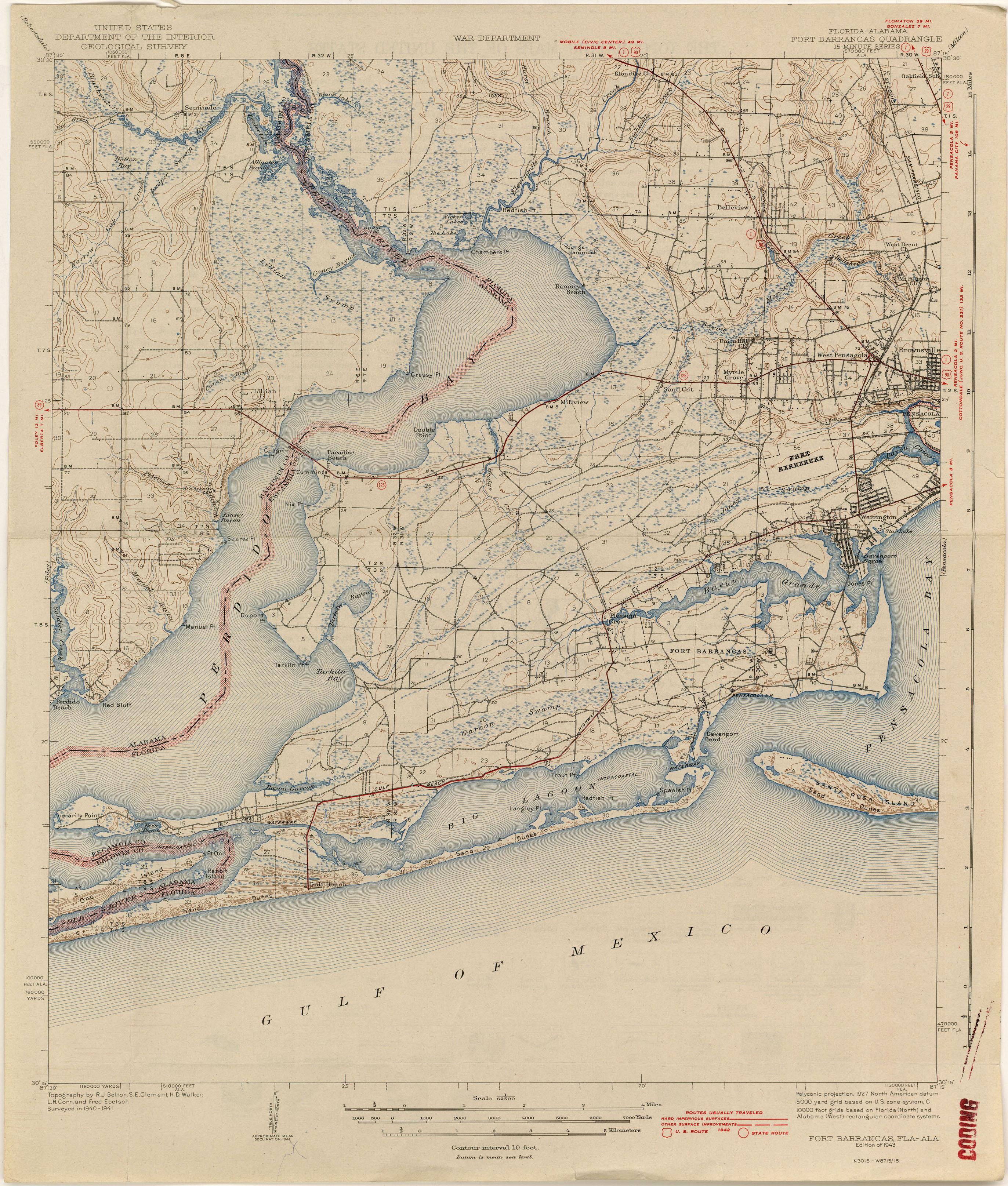 Florida Historical Topographic Maps - Perry-Castañeda Map Collection - Printable Map Of Pensacola Florida