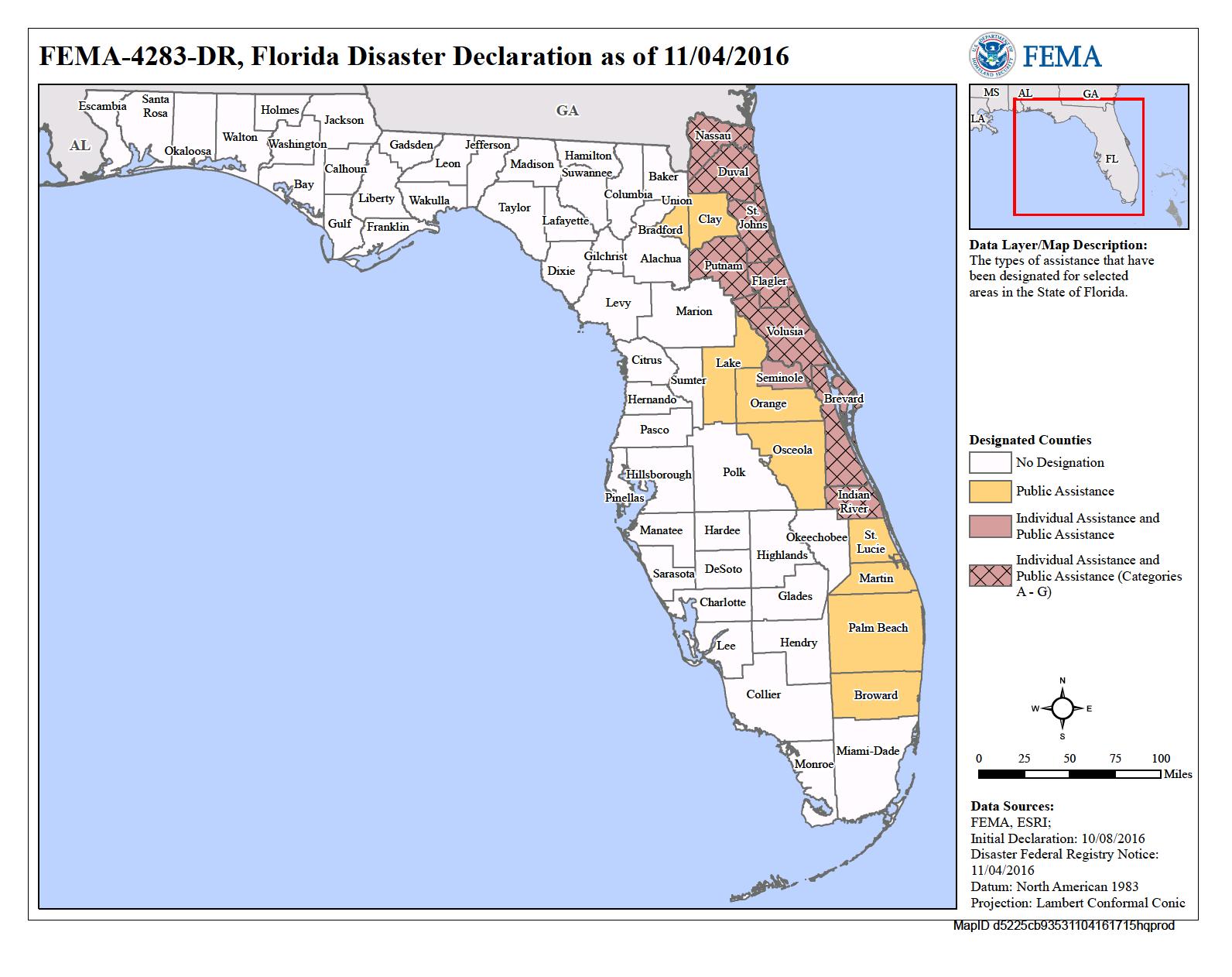 Florida Hurricane Matthew (Dr-4283) | Fema.gov - Flood Insurance Rate Map Florida