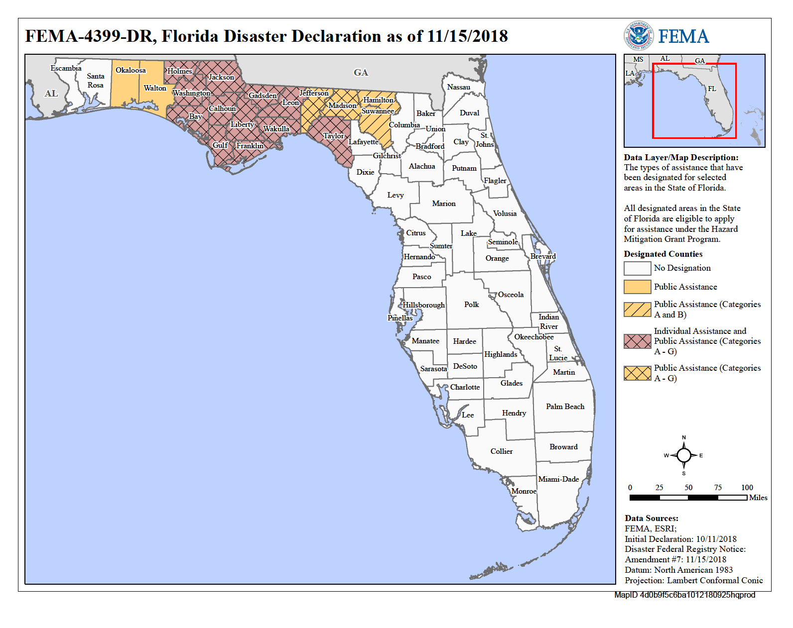 Florida Hurricane Michael (Dr-4399) | Fema.gov - Florida City Gas Service Area Map