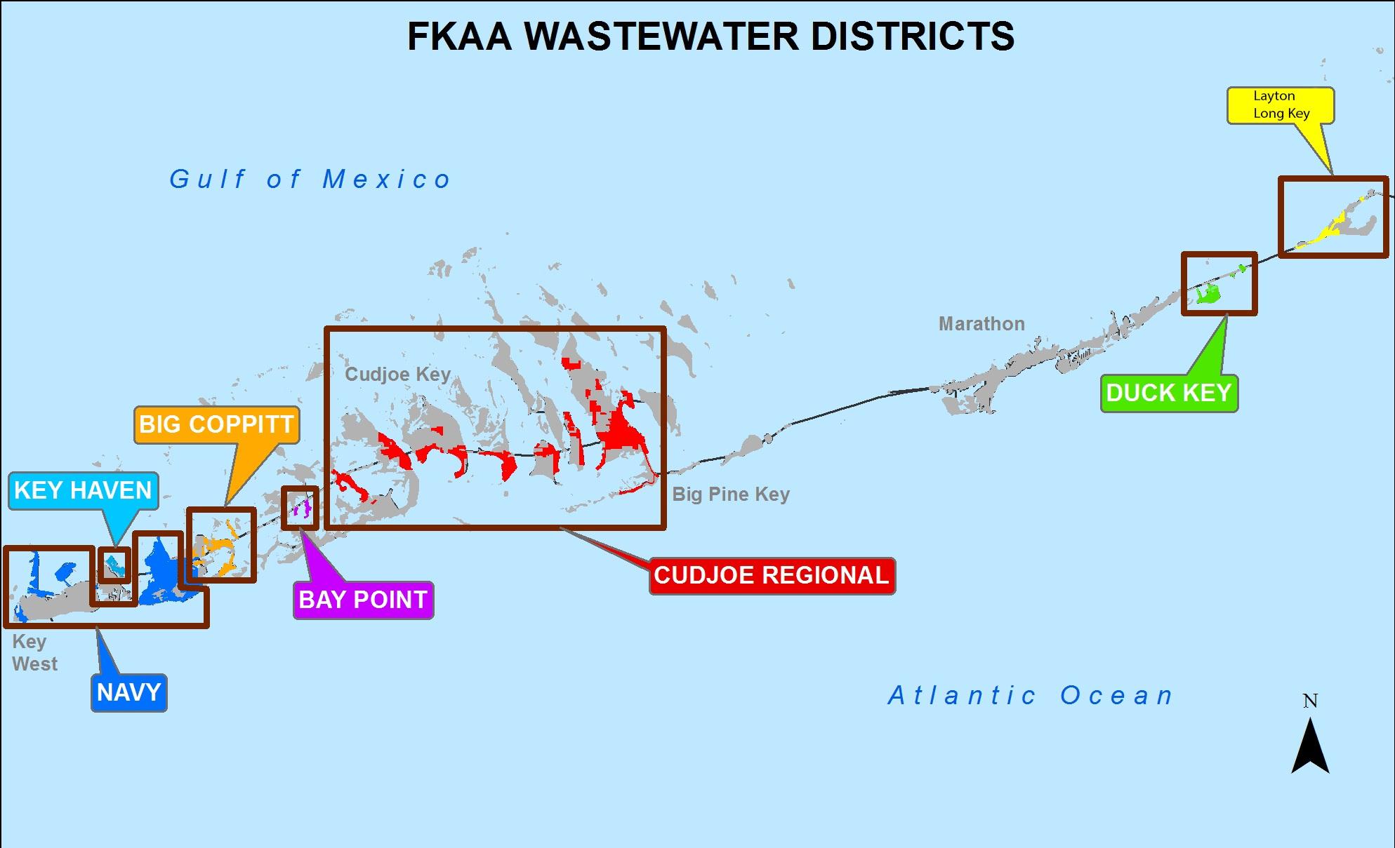 Florida Keys Aqueduct Authority - Florida Keys Map With Mile Markers