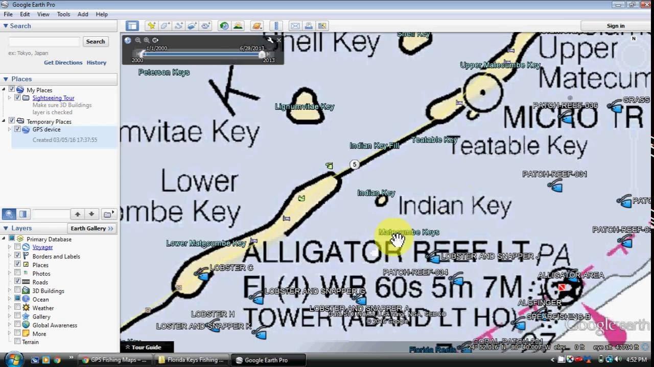 Florida Keys Fishing Map And Fishing Spots - Youtube - Florida Fishing Map