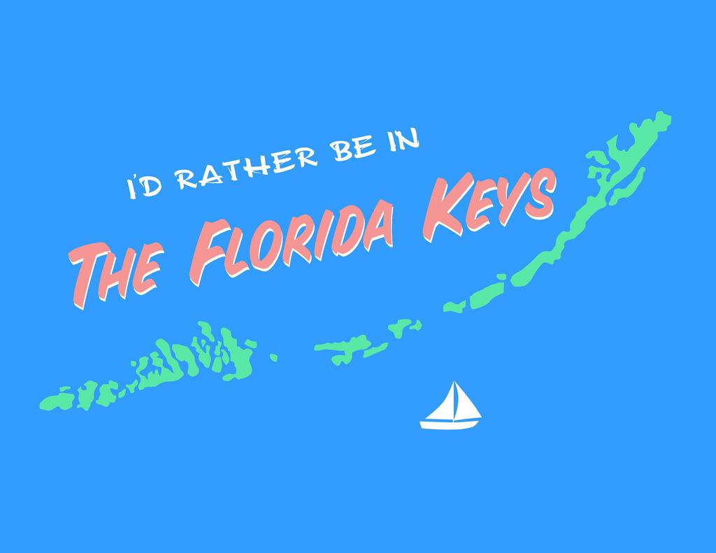 Florida Keys Map Art | 10 X 8 Print On Etsy | Ellen Beeler | Flickr - Florida Keys Map Art