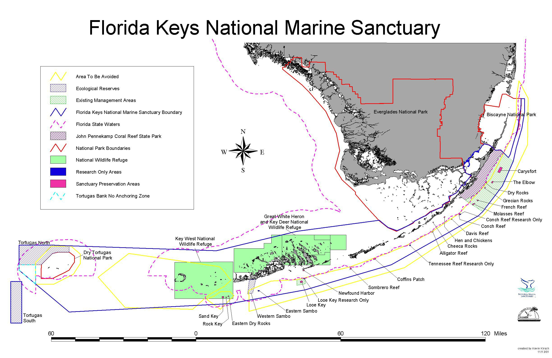 Florida Keys National Marine Sanctuary - Wikipedia - Florida Marine Maps