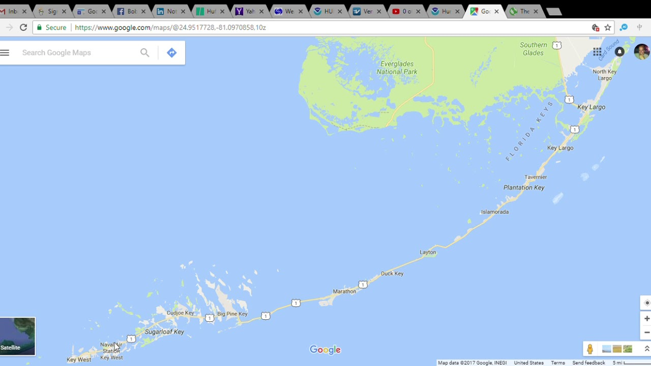 Florida Keys Underwater In Irma (Last Warning!) - Youtube - Google Maps Florida Keys
