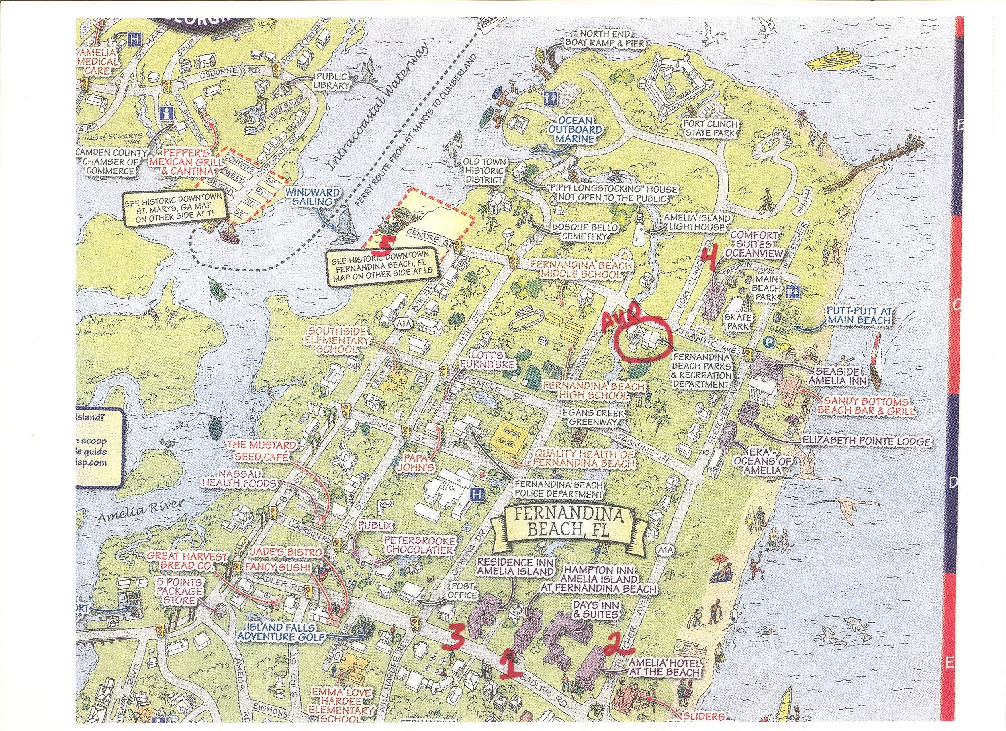 Florida Lighthouse Association, Inc. - Amelia Island - January 2014 - Amelia Island Florida Map