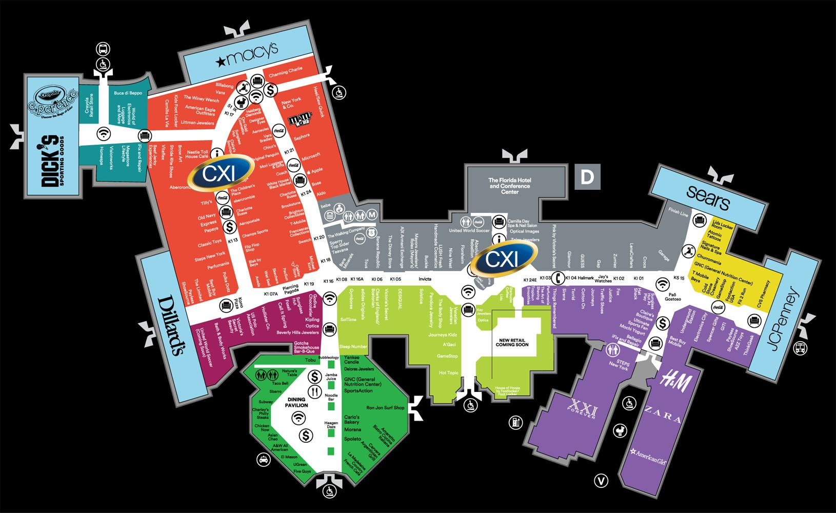 Florida Mall Map Nice Orlando Outlet Mall Map Beautiful Orlando - Florida Outlet Malls Map