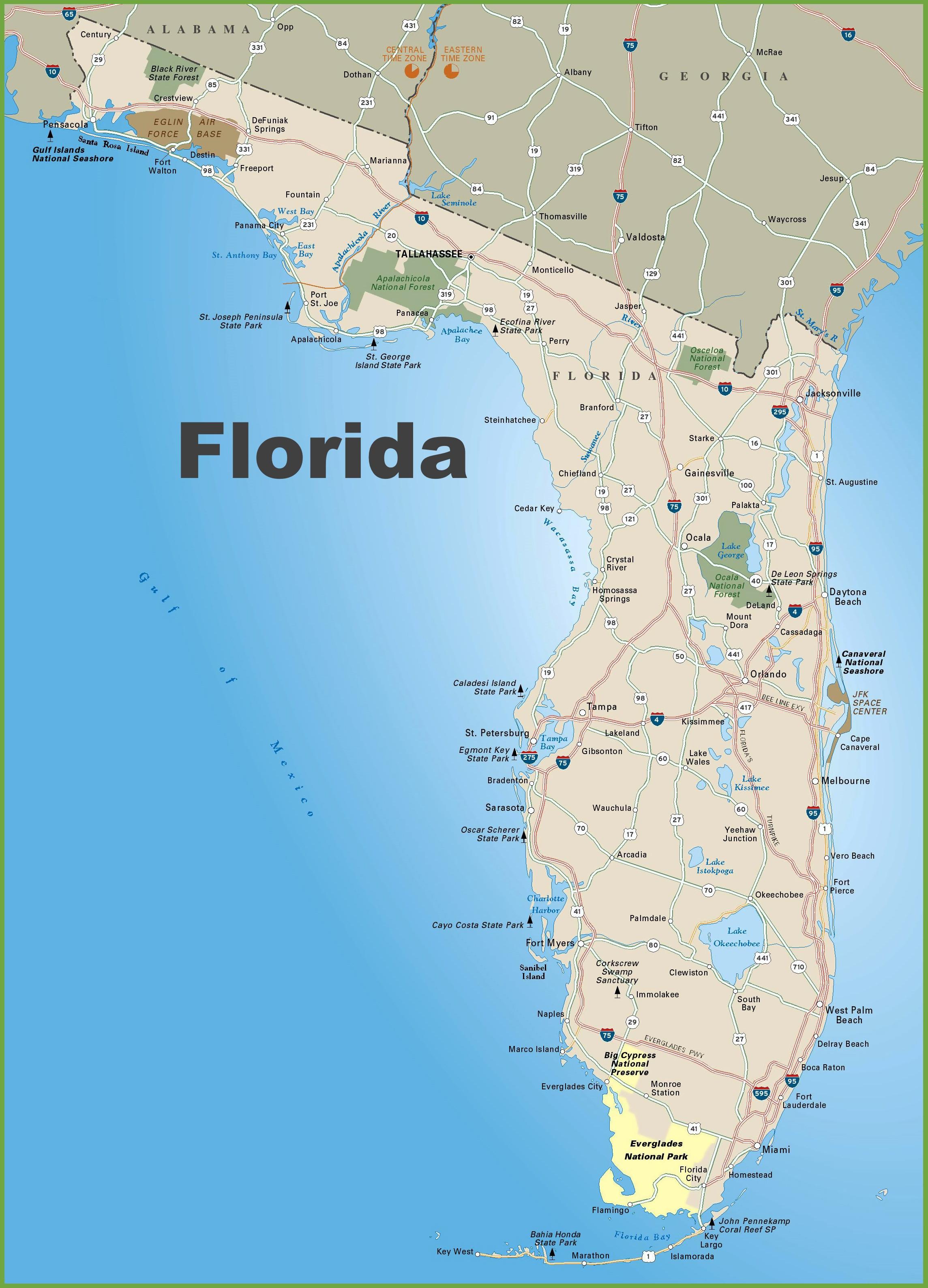 Florida Map Boca Raton Florida Map Geography Of Florida Map Of - Carrabelle Florida Map