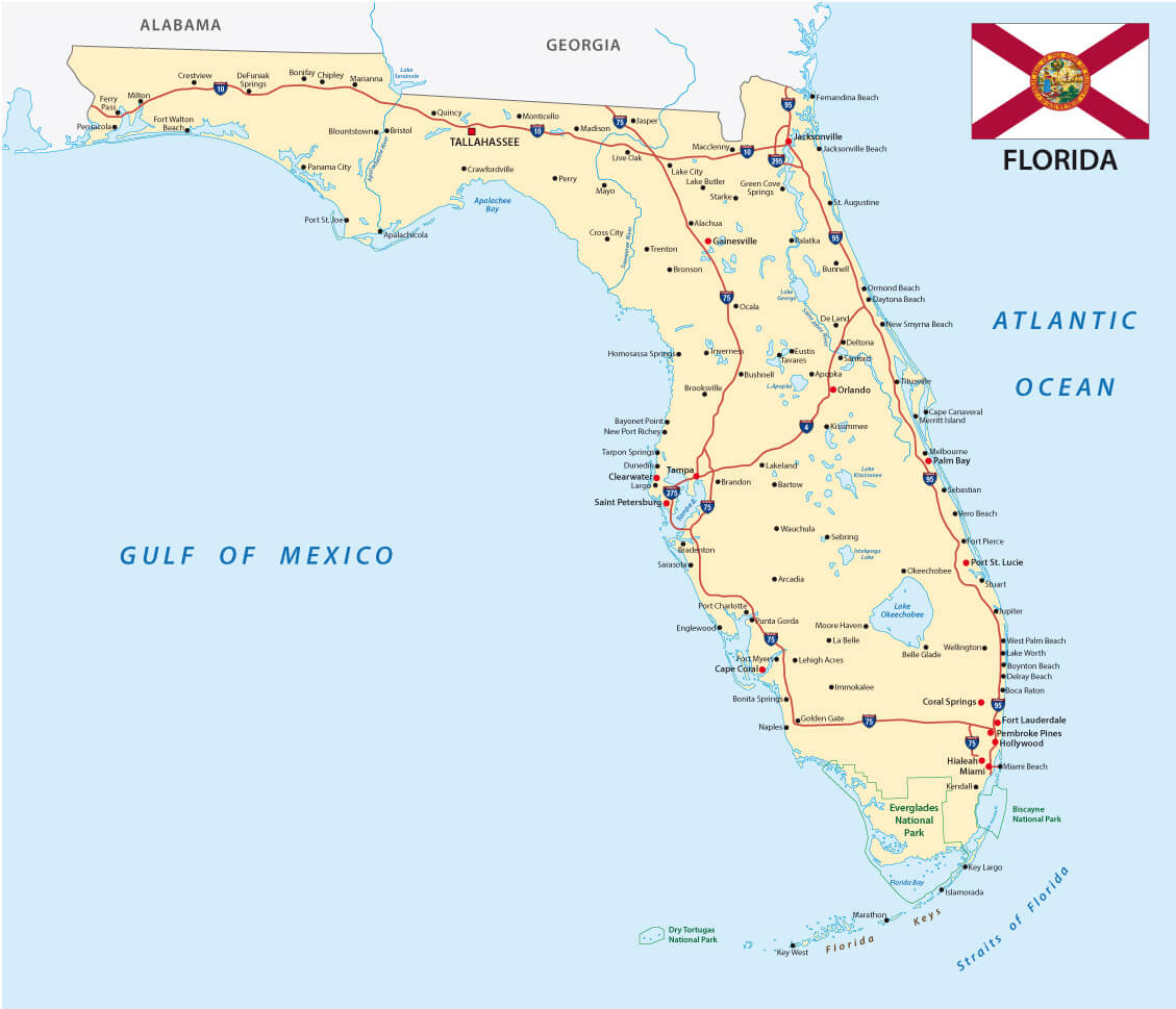 Florida Map - Coral Gables Florida Map