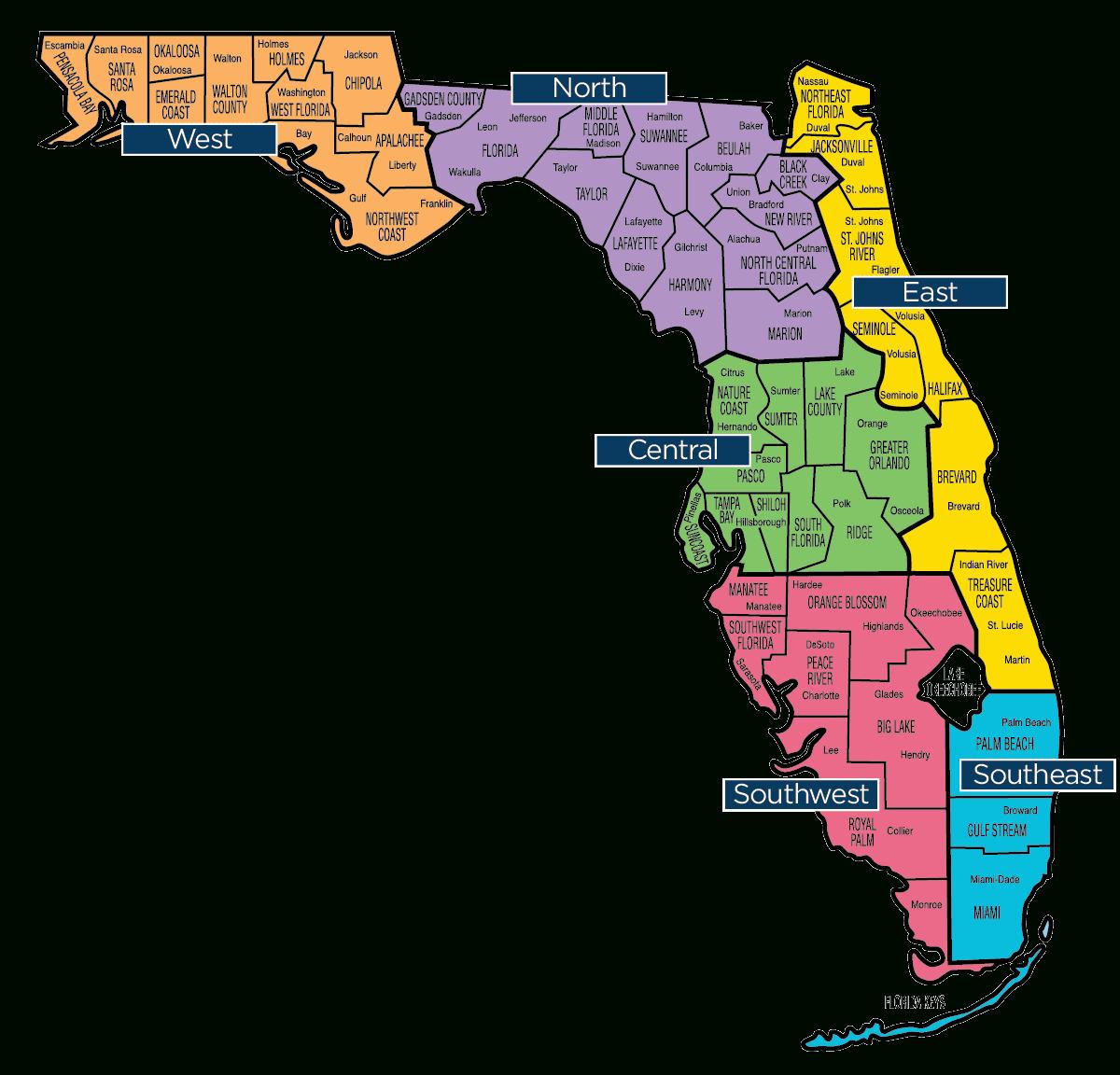 Florida Map - Florida Baptist Convention | Fbc - Orange Lake Florida Map