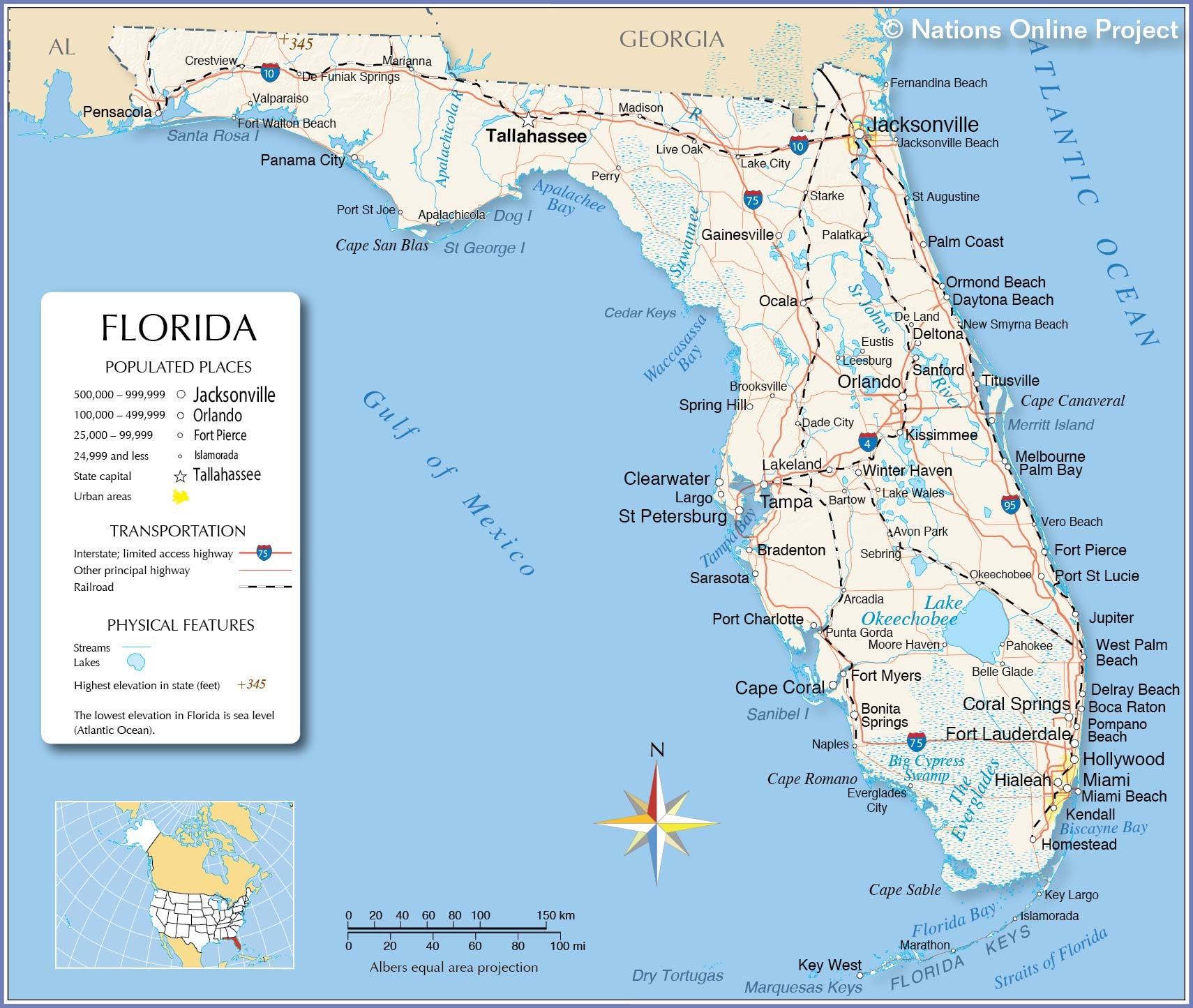 Florida Map Lakeland Fl Map | Settoplinux - Casey Key Florida Map