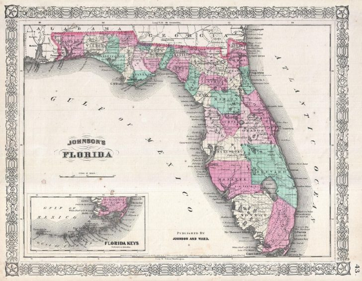 Florida Keys Map Poster