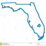 Florida Map Stock Illustration. Illustration Of Miami, South   507926   Lake Okeechobee Florida Map