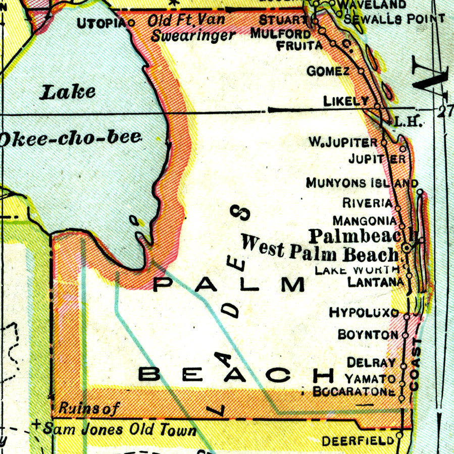 Florida Maps - Palm Beach County - Map Of Palm Beach County Florida