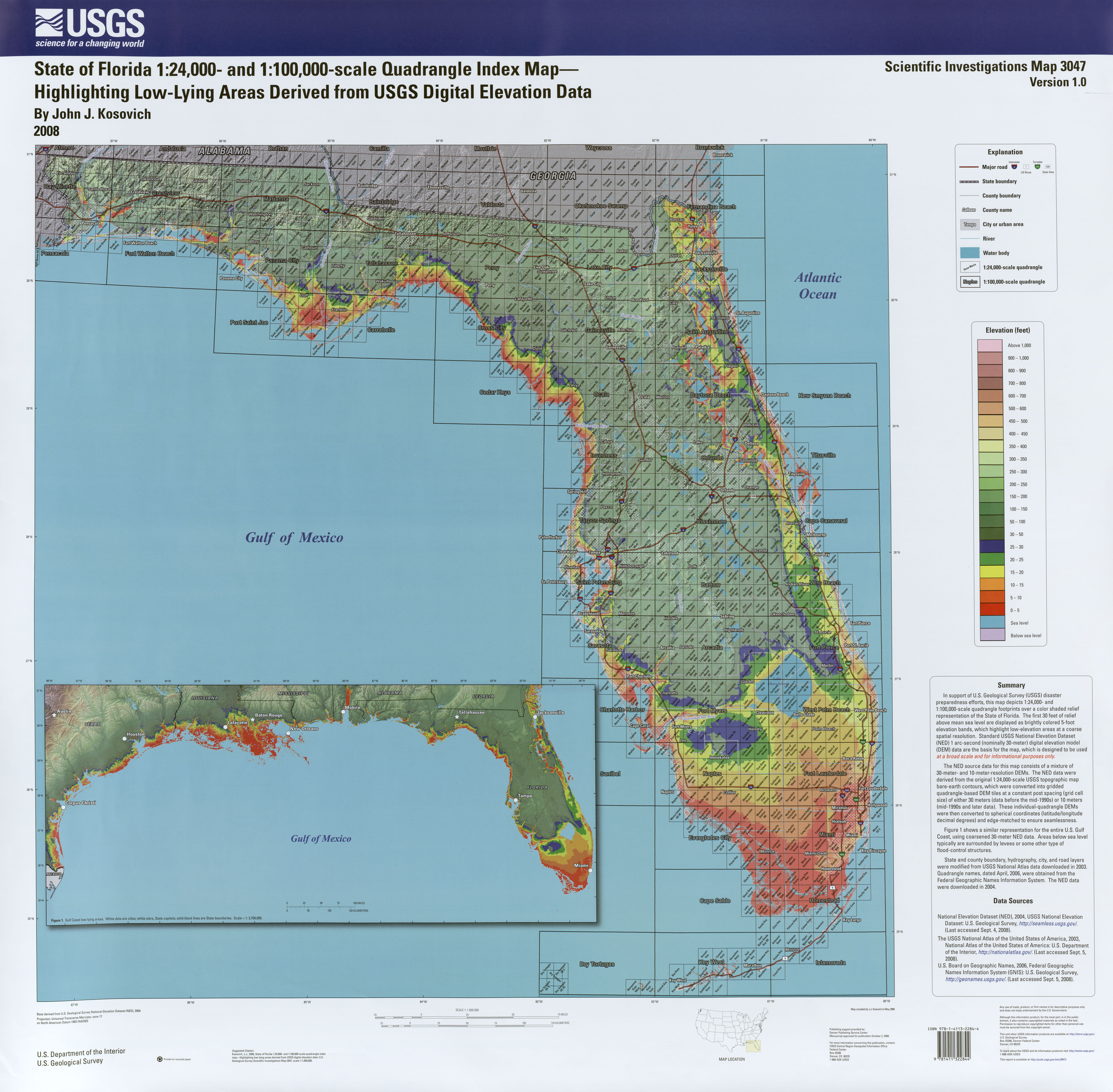 Florida Maps - Perry-Castañeda Map Collection - Ut Library Online - Florida Keys Topographic Map