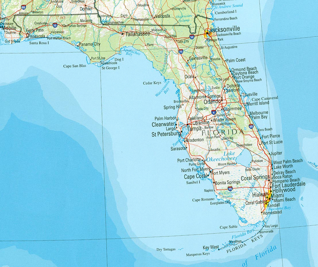 Florida Maps - Perry-Castañeda Map Collection - Ut Library Online - Where Is Palm Harbor Florida On The Map