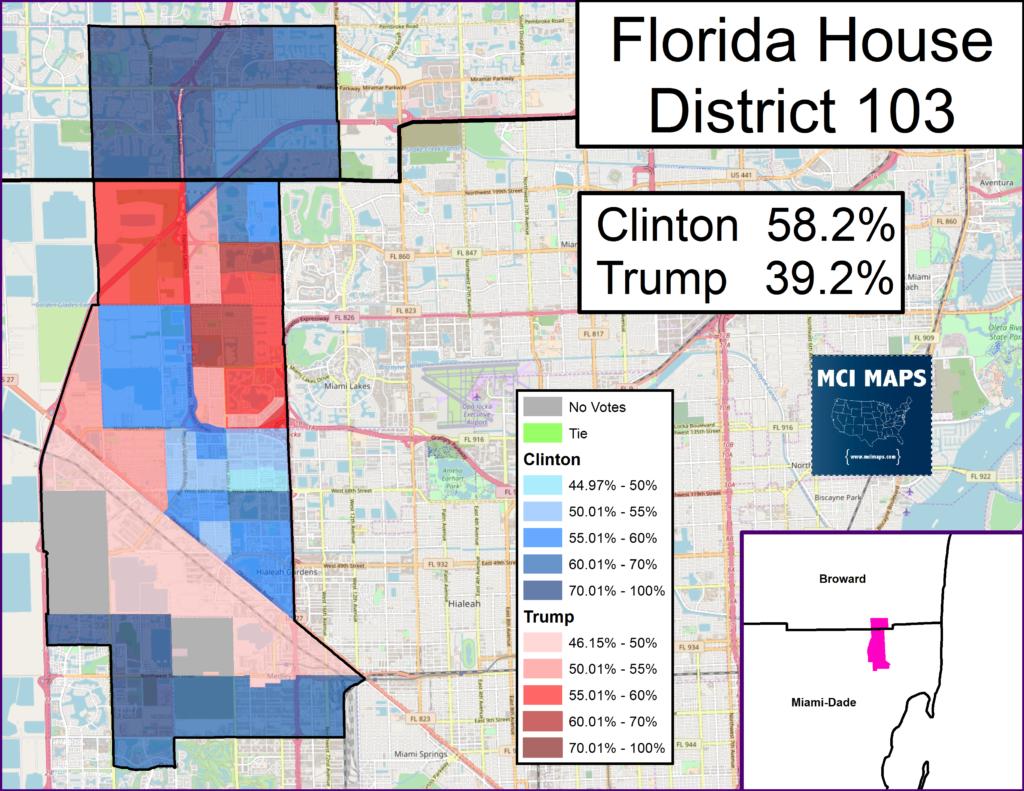 Florida – Mci Maps - Florida House District 115 Map