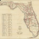 Florida Memory   Official Road Map Of Florida, 1930   Coldwater Creek Florida Map
