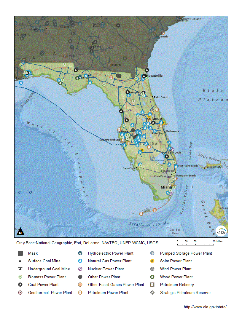 Florida Profile - Nuclear Power Plants In Florida Map