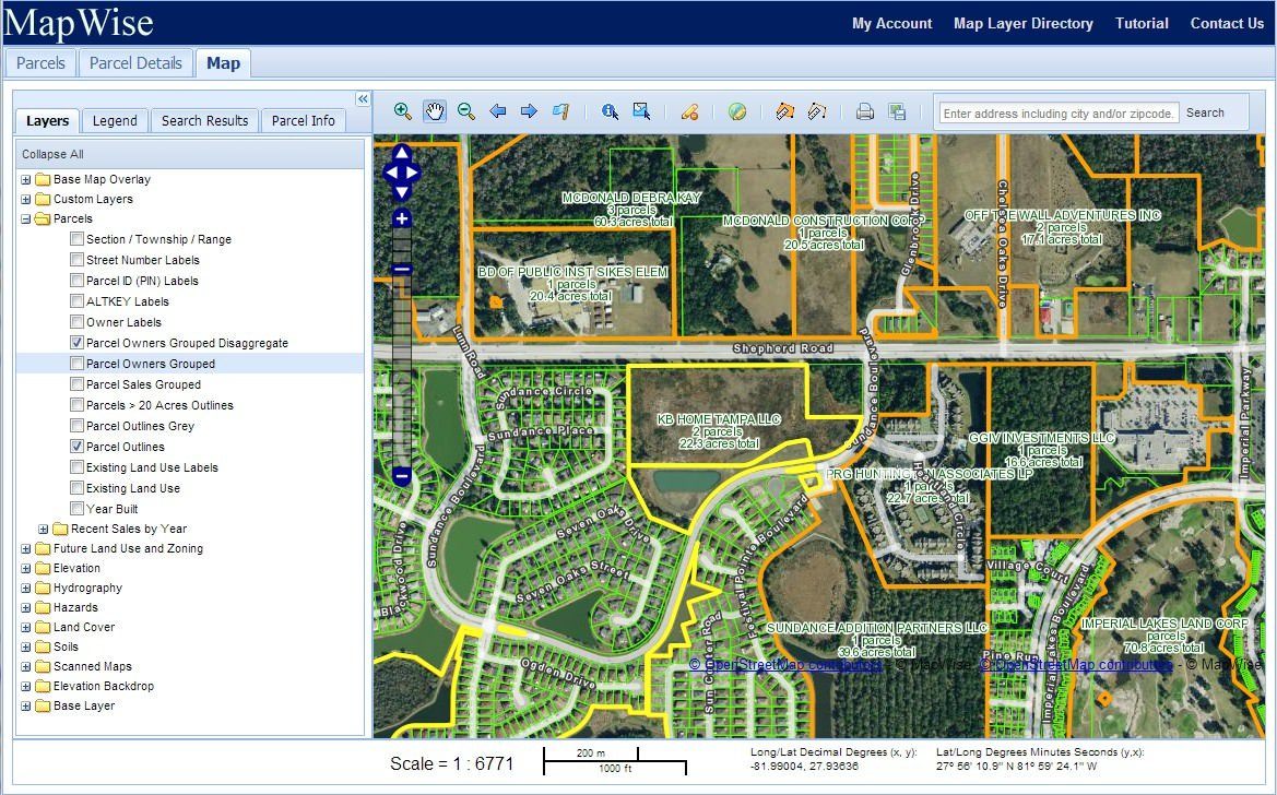 Florida Property Appraiser Parcel Maps And Property Data - Florida Section Map