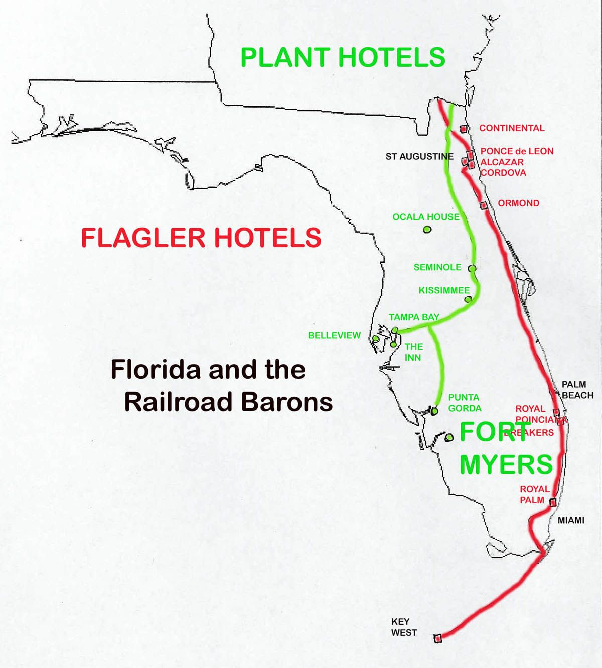Florida Railroads In 1880-1900: | Railway Maps | Pinterest - Florida Railroad Map