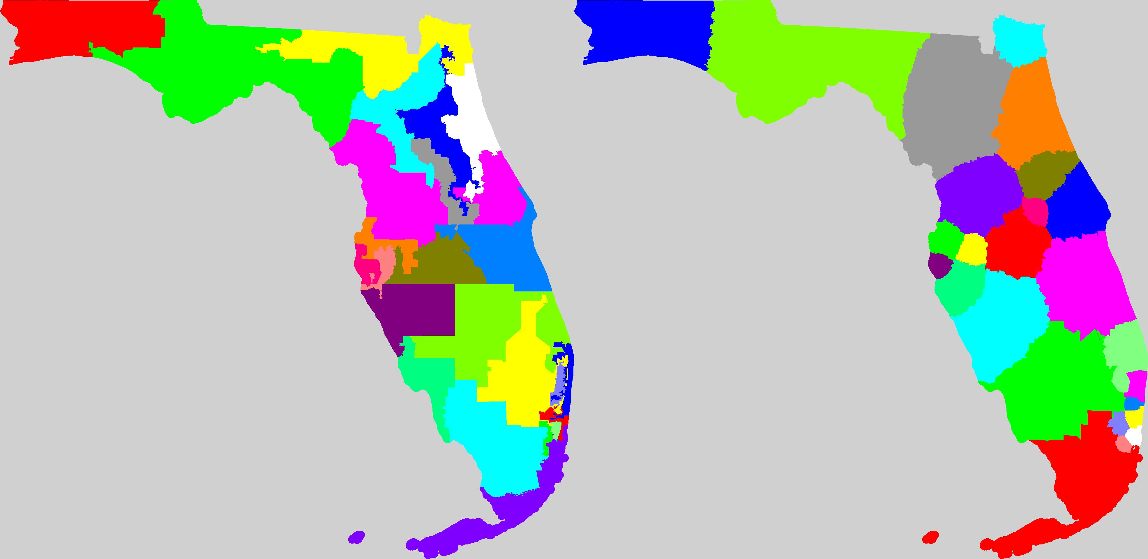 Florida Redistricting - Current Map Of Florida