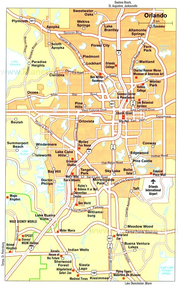 Florida Road Map With Cities And Towns In Of Fancy Orlando Within - Detailed Map Of Orlando Florida