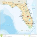 Florida Road Map With National Parks Stock Vector – Illustration Of – National Parks In Florida Map