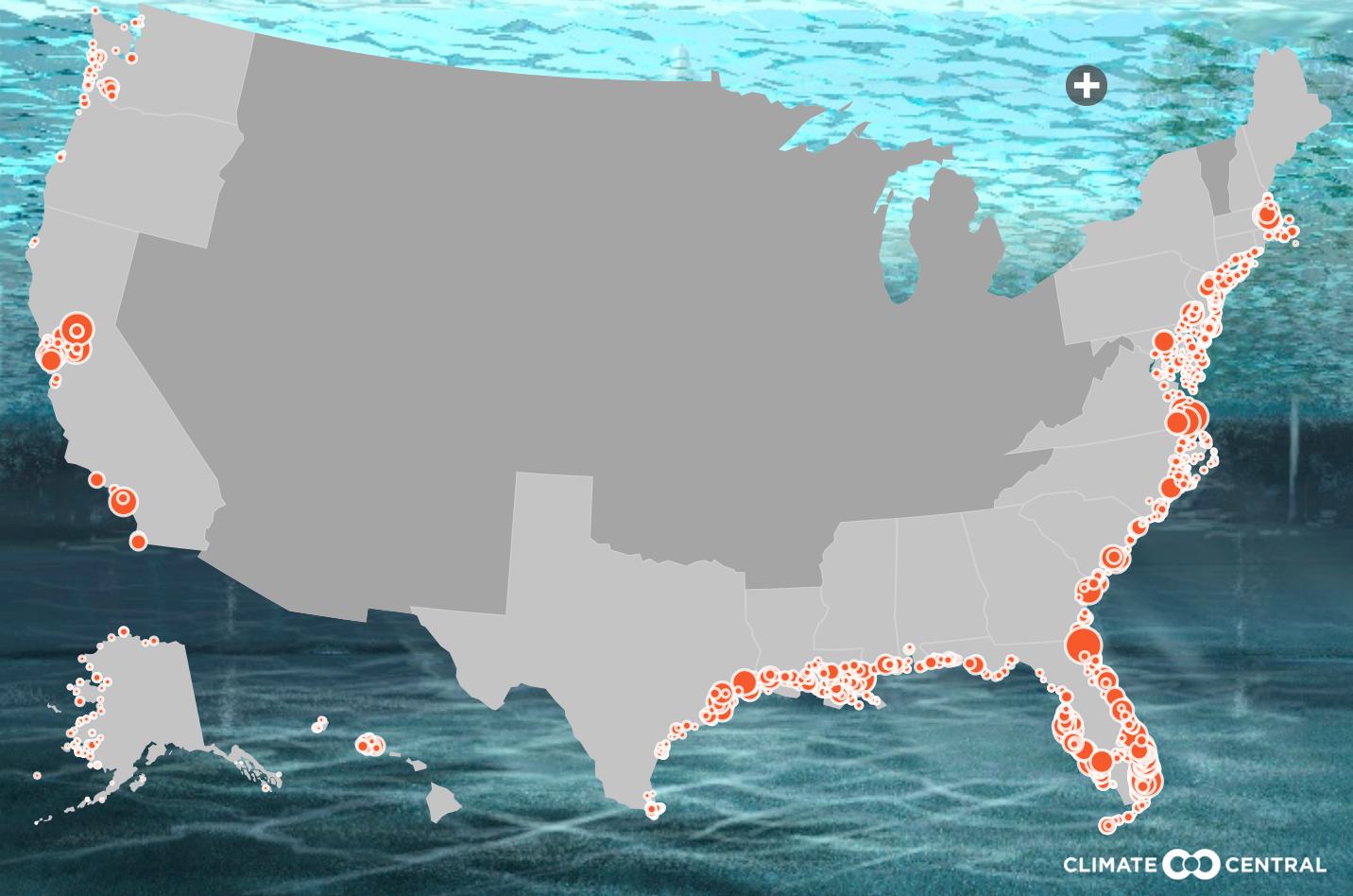 Florida Roundup: Managing Rising Seas In South Florida | Wlrn - Florida Water Rising Map