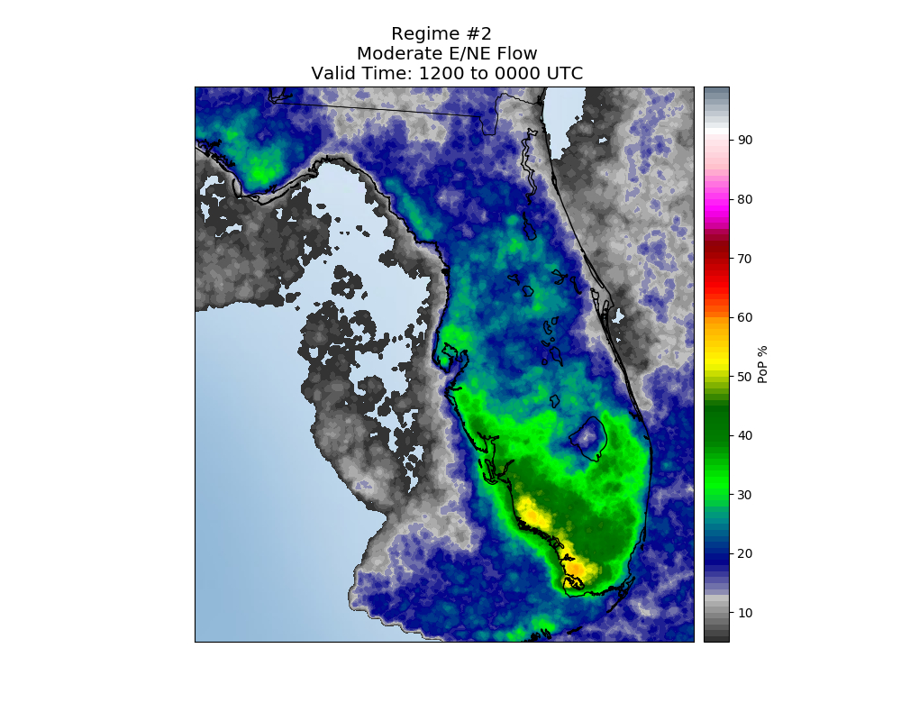 Florida Sea Breeze Thunderstorm Climatology - Seabreeze Florida Map
