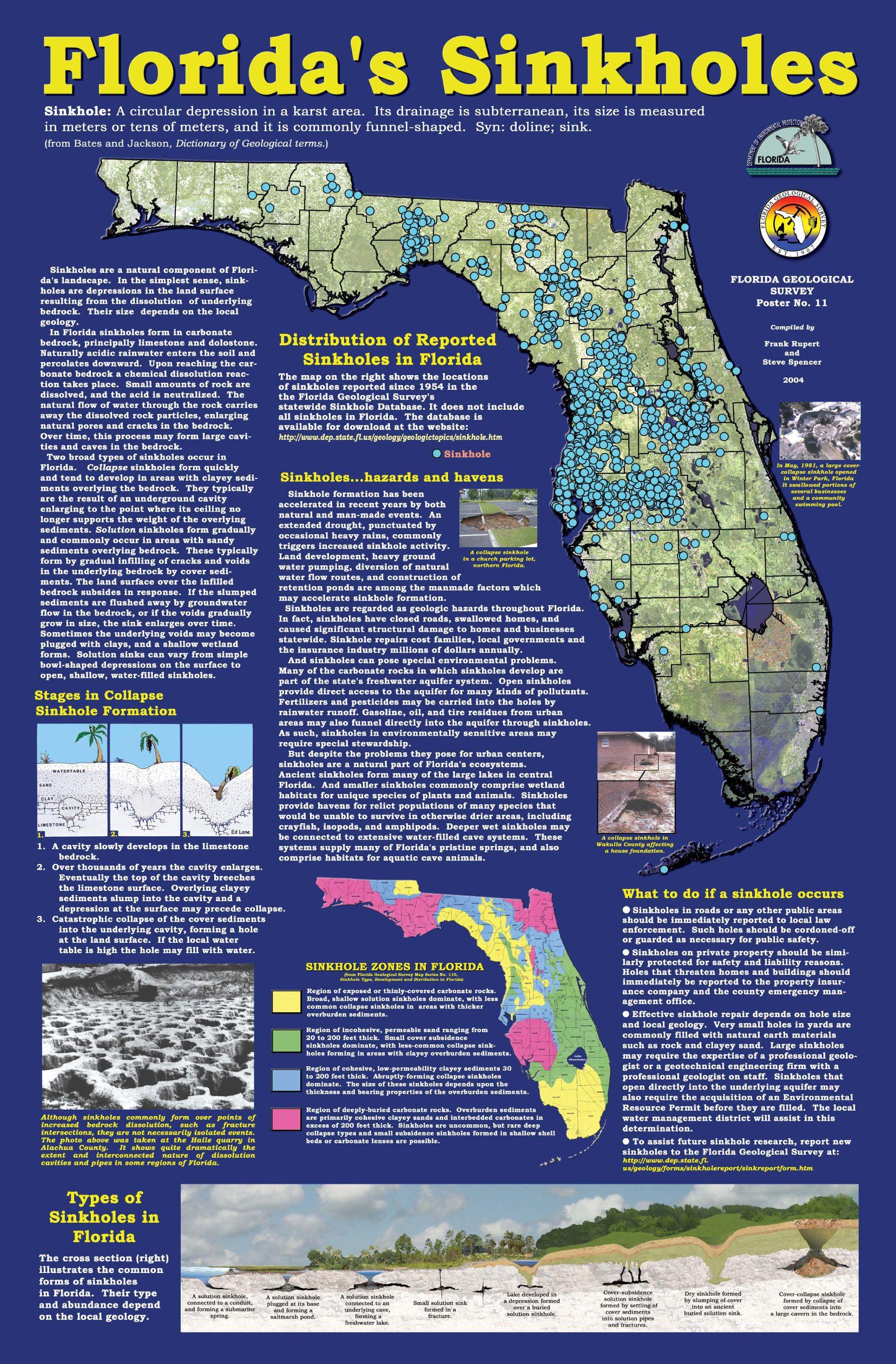 Florida Sinkhole Map | Mysterious Sinkholes | Pinterest - Florida Sinkhole Map 2018