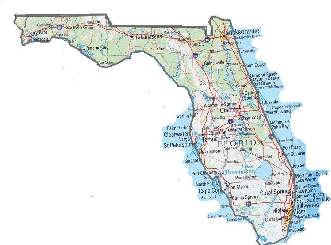 Florida State Map | Florida State | Usa | Maps Of The Usa | Maps - Florida St Map
