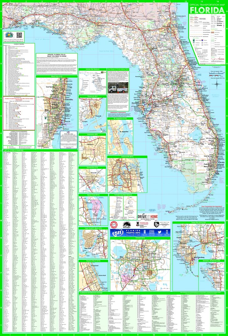 Road Map Of South Florida