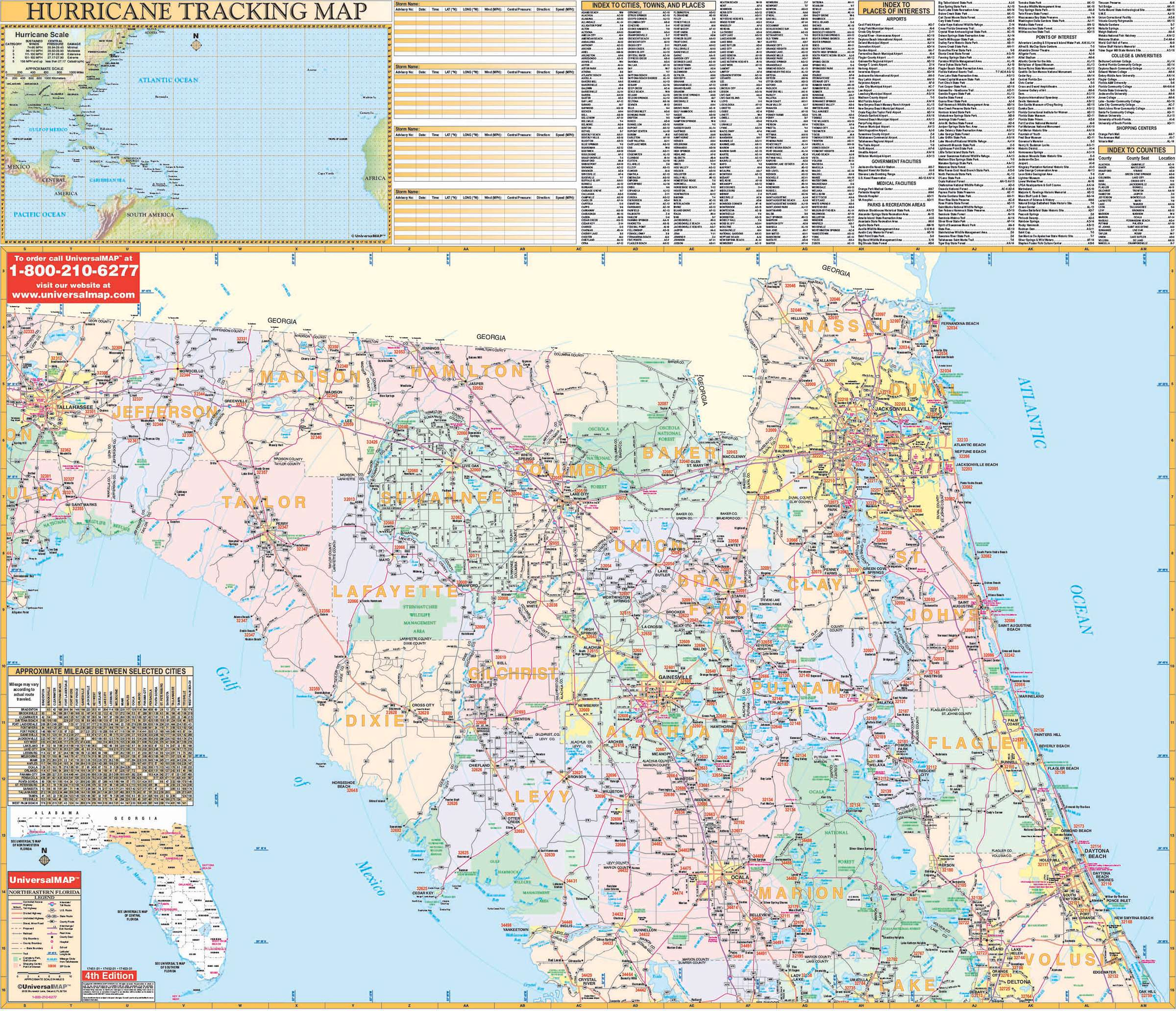 Florida State Northeast Regional Wall Map – Kappa Map Group - Florida Wall Map