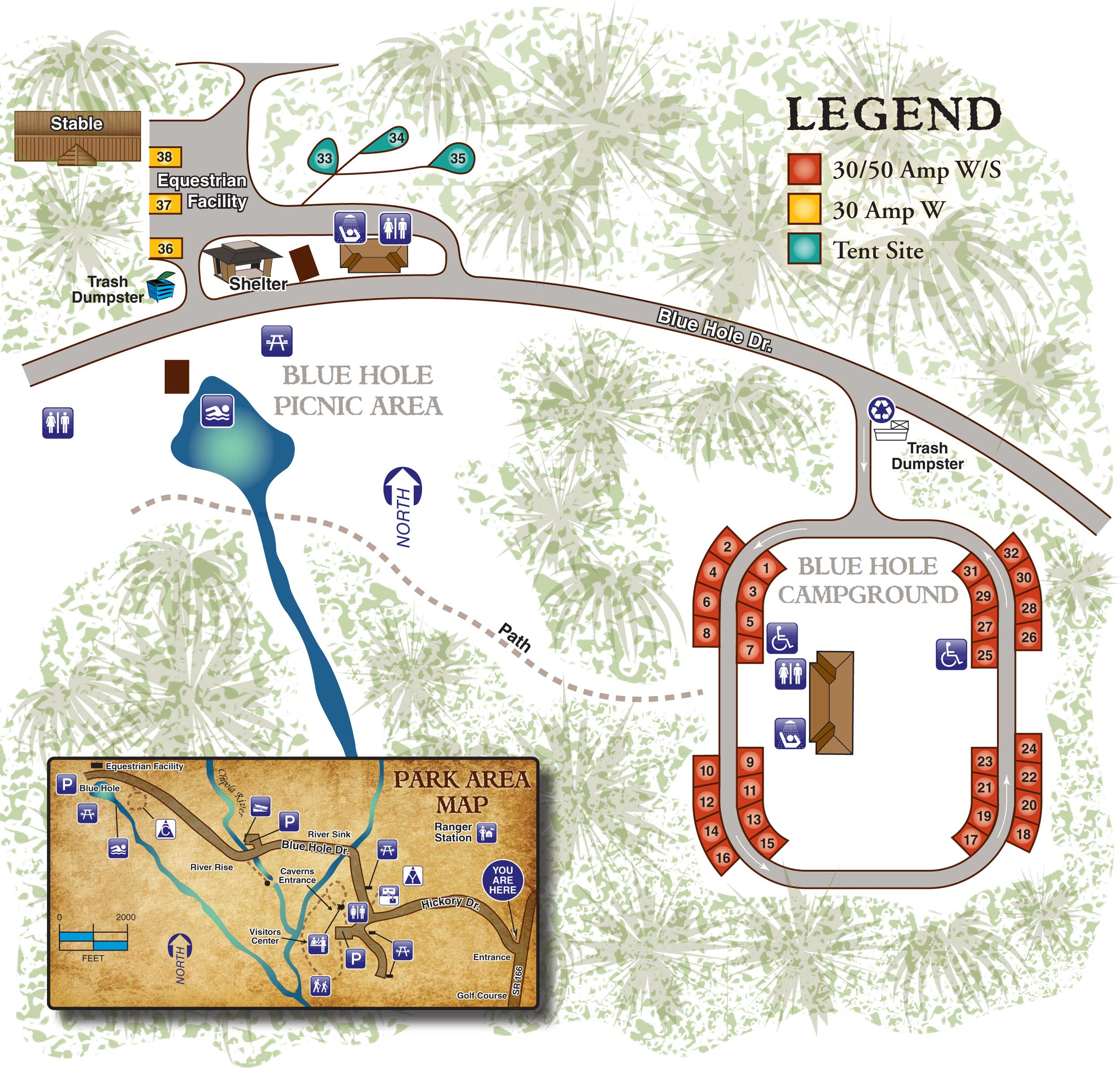 Florida State Parks Rv Camping - Know Your Campground - Florida Caverns State Park Map