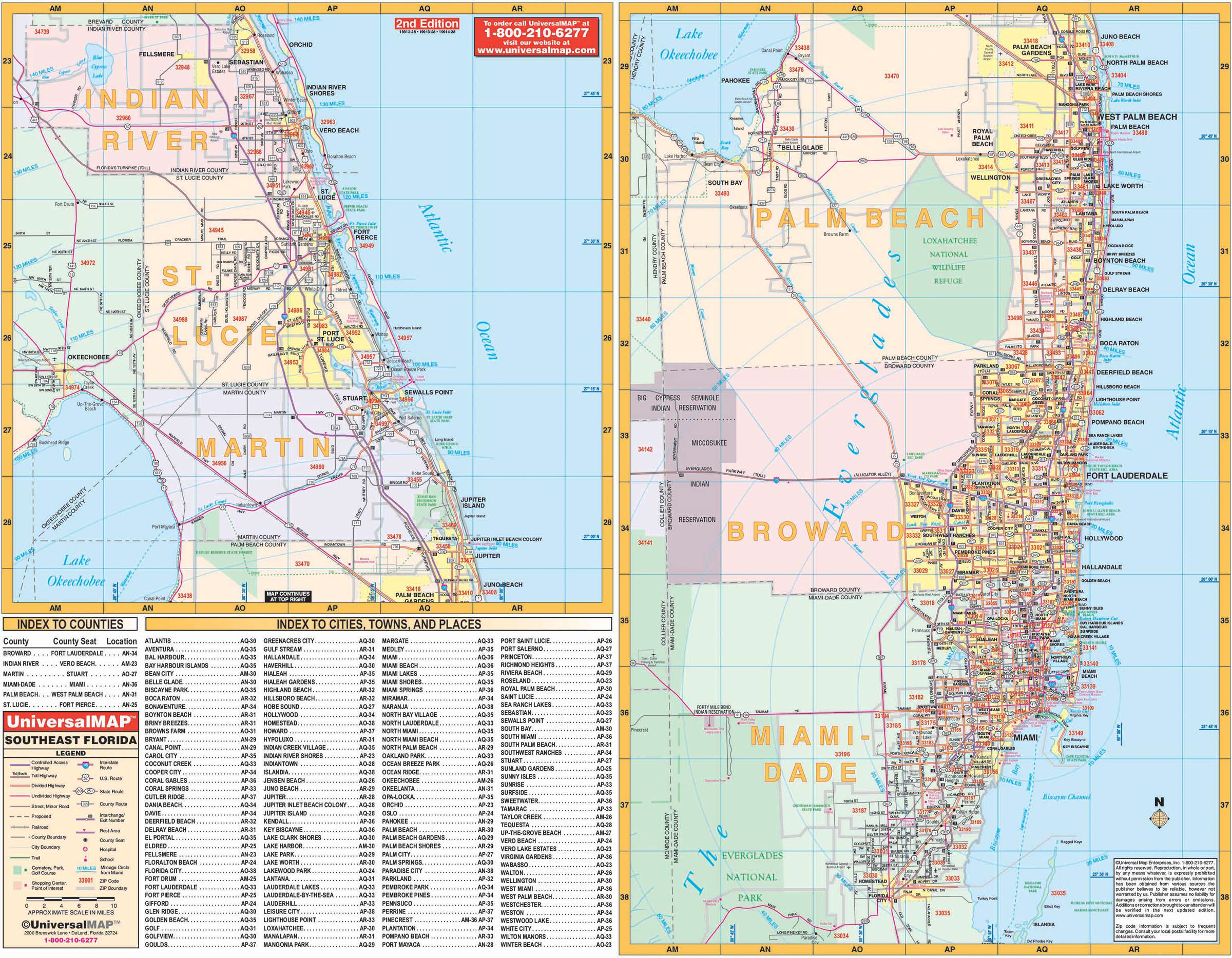 Florida State Southeast Regional Wall Map – Kappa Map Group - Florida Wall Maps For Sale