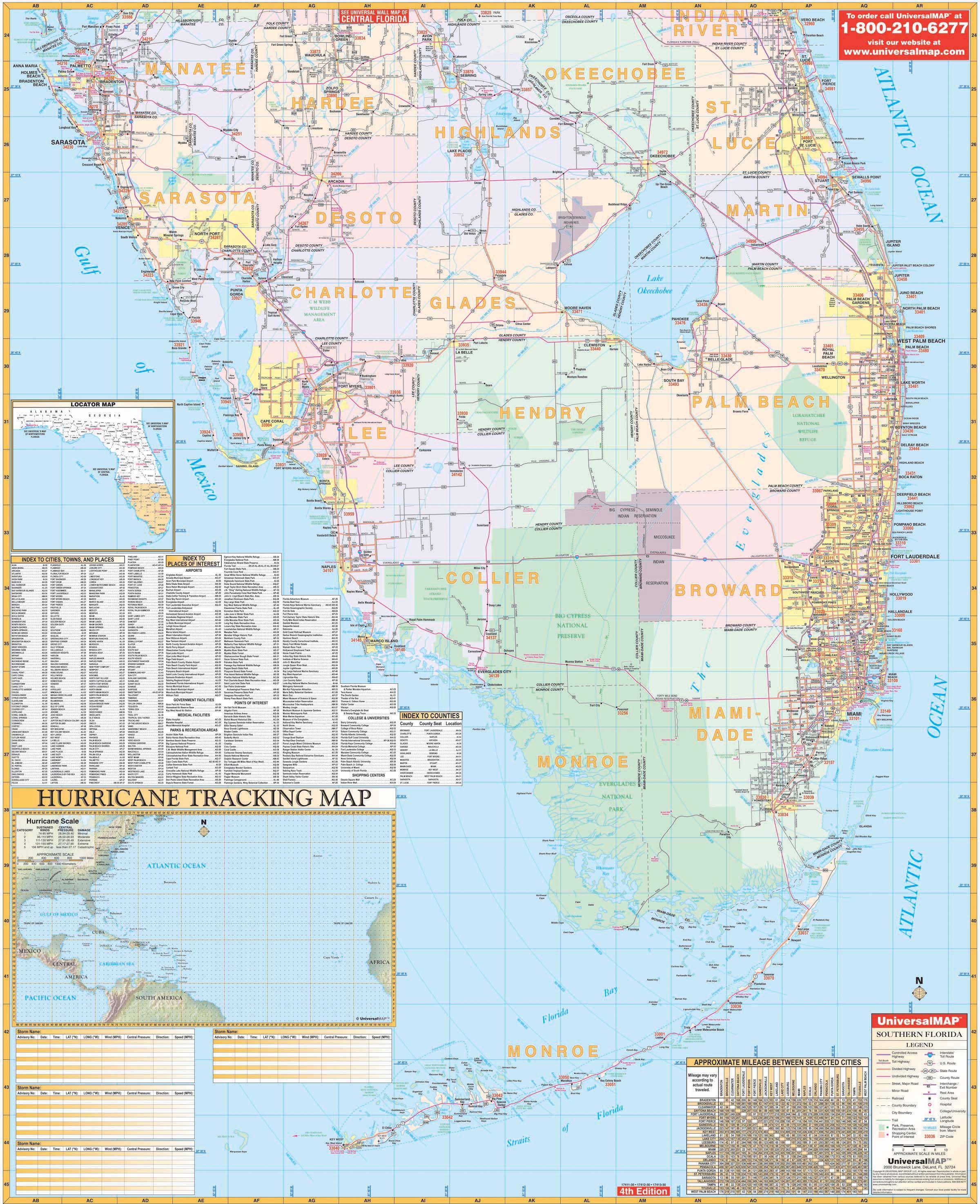 Florida State Southern Region Wall Map – Kappa Map Group - Florida Wall Map