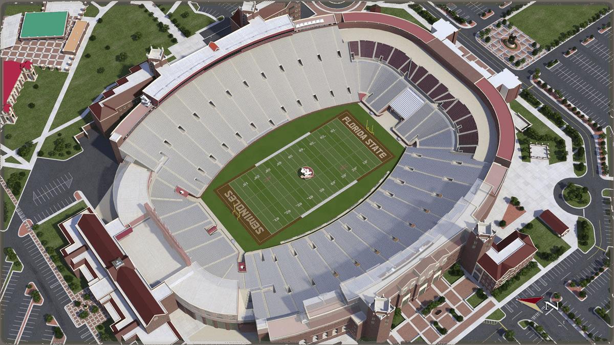Florida State University Football - University Of Florida Football Stadium Map
