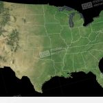Florida State (Usa) Extruded On The Satellite Map Stock Animation – Satellite Map Of Florida