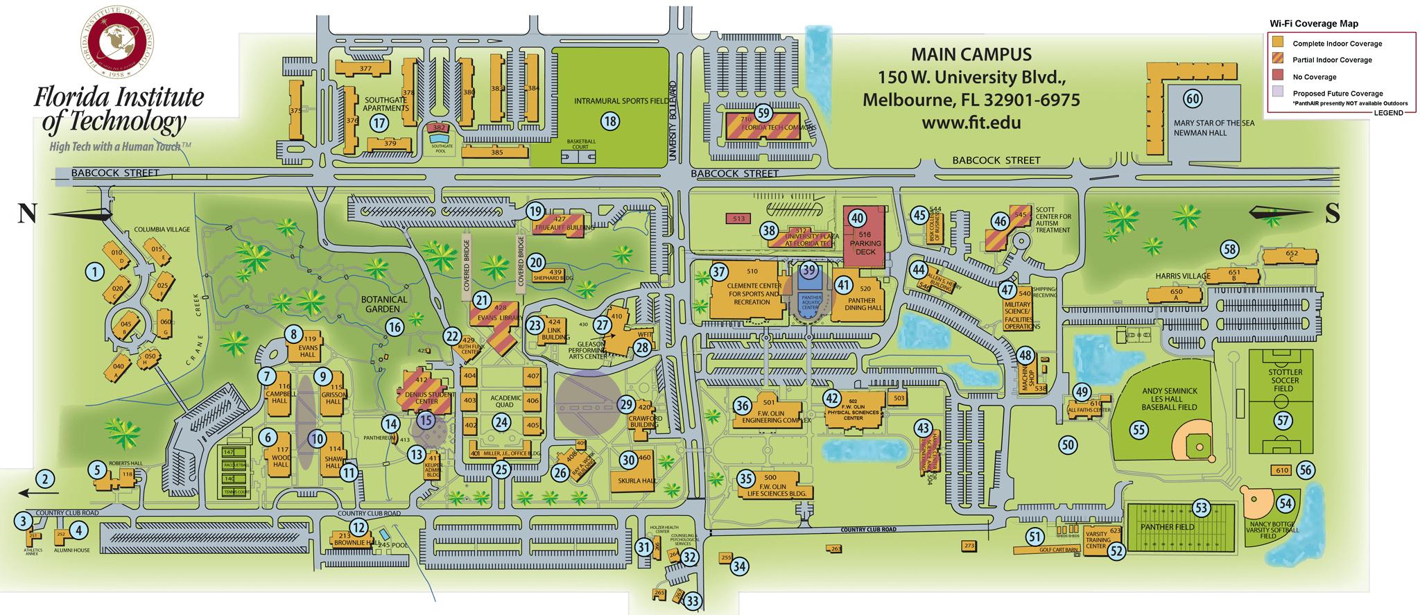 Florida Tech Campus Map - Florida Tech Map